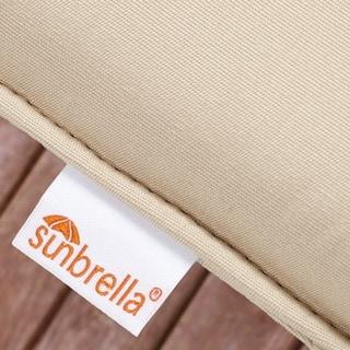 Sunbrella Grey/ Orange Stripe Indoor/ Outdoor Corded Square Throw Pillows (Set of 2)