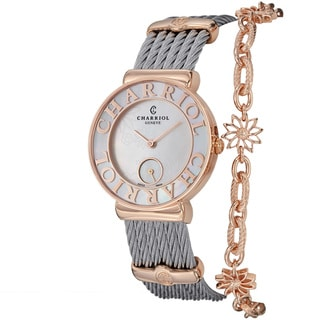 Charriol Women's ST30PC.560.013 'St Tropez' Mother of Pearl Flower Dial Watch