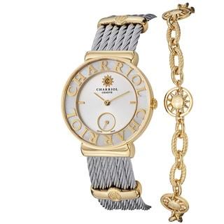 Charriol Women's ST30YC.560.012 'St Tropez' Mother Of Pearl Dial Sun Bracelet Watch