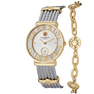 Charriol Women's ST30YC.560.012 'St Tropez' Mother Of Pearl Dial Sun Bracelet Watch