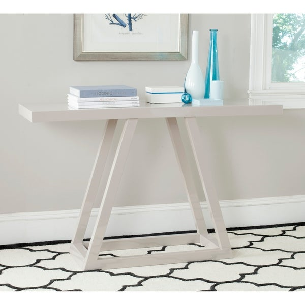 Safavieh Sutton Taupe Lacquer Console - 0. Opens flyout.