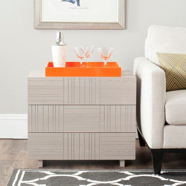 Safavieh Mitch Grey Storage Cabinet