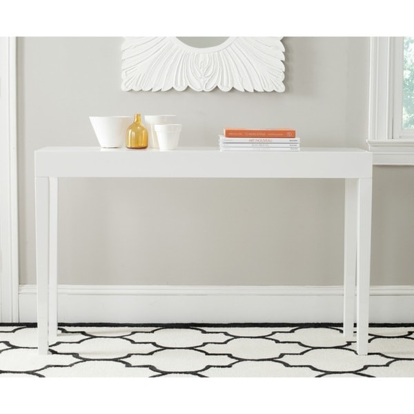 Safavieh Kayson White Lacquer Console Table Free