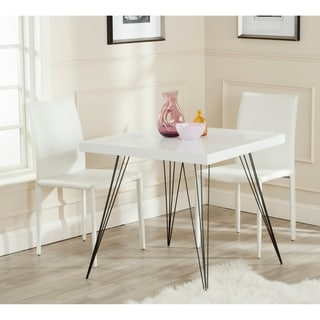 Safavieh Mid-Century Wolcott White/ Black Lacquer Accent Table