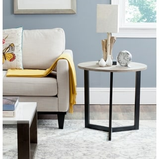 Safavieh Leonard Mid-century Modern Wood Oak/ Black End Table
