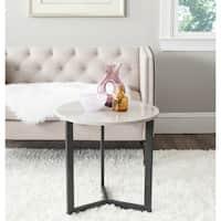 Safavieh Leonard Mid-century Modern Wood Taupe/ Black Lacquer End Table