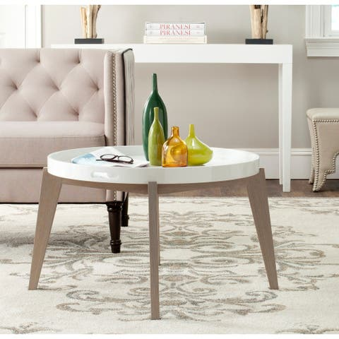 Safavieh Echo White/ Grey Lacquer End Table - 0