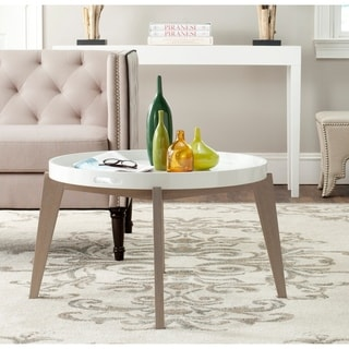 Safavieh Echo White/ Grey Lacquer End Table