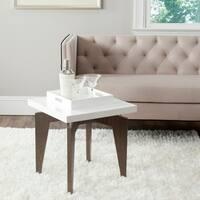 Safavieh Mid-Century Modern Josef White/ Dark Brown Lacquer End Table