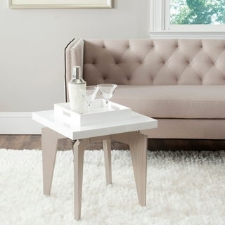Safavieh Mid-Century Modern Josef White/ Grey Lacquer End Table
