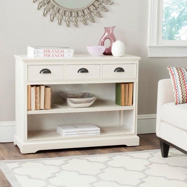 Safavieh Prudence White Storage Bookshelf Unit