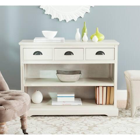 "Safavieh Prudence White Storage Bookshelf Unit - 39.4"" x 13.8"" x 29.9"""