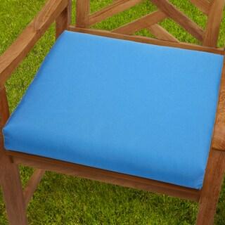 Bristol 20-inch Indoor/ Outdoor Capri Blue Chair Cushion with Sunbrella Fabric