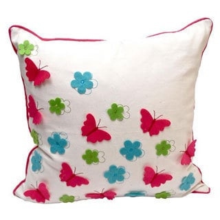 Debage Spring Butterfly 20-inch Feather Filled Throw Pillow