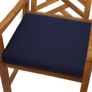 Bristol 20-inch Indoor/ Outdoor Navy Blue Chair Cushion with Sunbrella Fabric