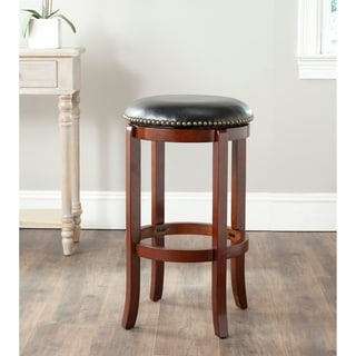 Safavieh Elwood Cherry/ Black 29-inch Bar Stool