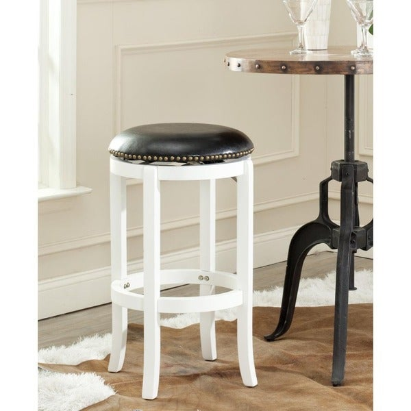 Safavieh Elwood White/ Black 29-inch Bar Stool