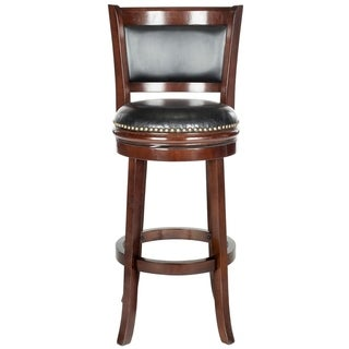 Safavieh Brockway Cappuccino/ Black 29-inch Bar Stool