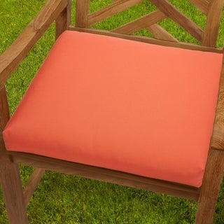 Bristol Indoor/ Outdoor 20-inch Melon Chair Cushion with Sunbrella Fabric