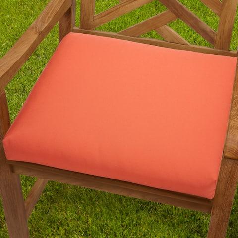 Bristol Indoor/ Outdoor 19-inch Melon Chair Cushion with Sunbrella Fabric
