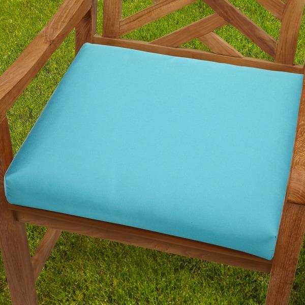 Bristol 19 inch Indoor Outdoor Aruba Blue Chair Cushion with Sunbrella Fabri