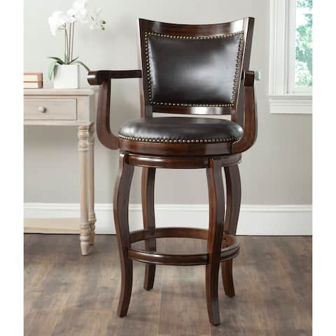 "Safavieh 29-inch Gitano Espresso/ Brown Bar Stool - 25.4"" x 24"" x 46"""