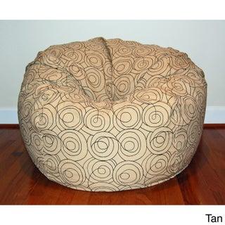 36-inch Wide Loop Washable Bean Bag Chair (Option: Tan)