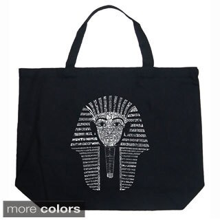 LA Pop Art King Tut Shopping Tote Bag