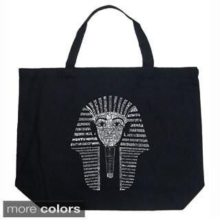 LA Pop Art King Tut Shopping Tote Bag