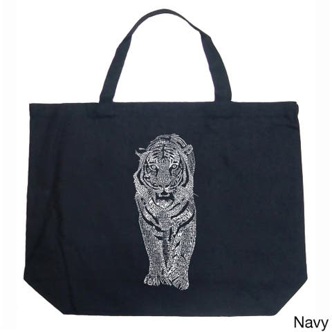 LA Pop Art Endangered Species Tiger Shopping Tote Bag