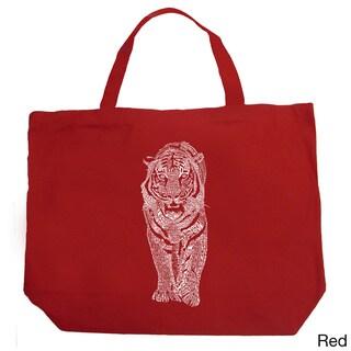LA Pop Art Endangered Species Tiger Shopping Tote Bag