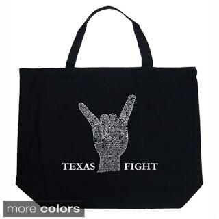 LA Pop Art Texas Fight Shopping Tote Bag