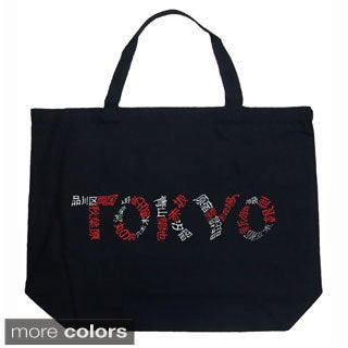 LA Pop Art Tokyo Cities Shopping Tote Bag