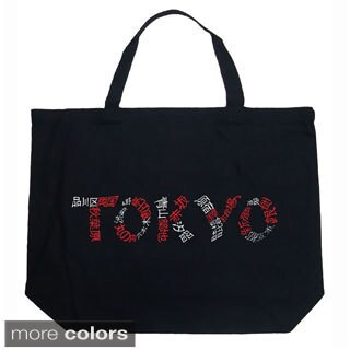 LA Pop Art Tokyo Cities Shopping Tote Bag