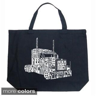 LA Pop Art Keep on Truckin Shopping Tote Bag