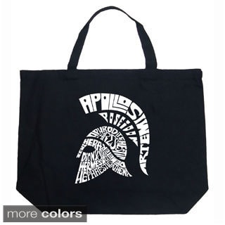 LA Pop Art Spartan Shopping Tote Bag