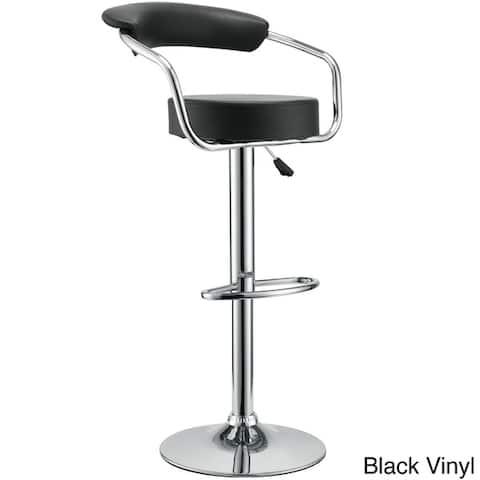 Vinyl 50's Style Diner Adjustable Bar Stools (Set of 2)