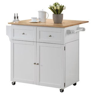 Superieur Coaster Company White Kitchen Storage Cart And Leaf
