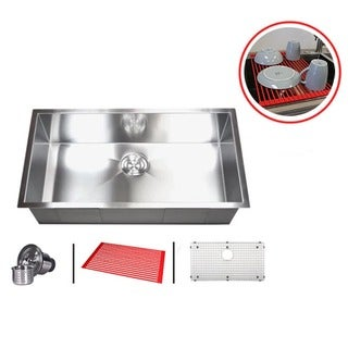 Single Bowl 32-inch Stainless Steel Undermount Kitchen Sink Combo