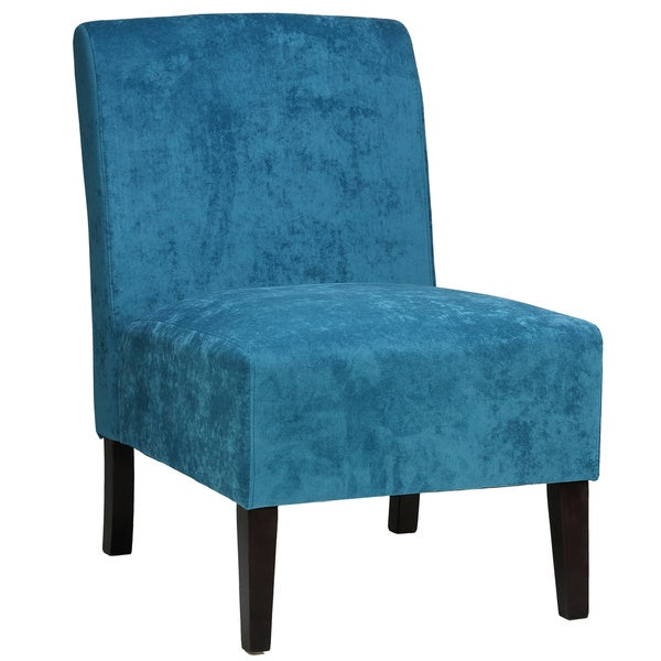 Cortesi Home Chicco Blue Armless Accent Chair Free