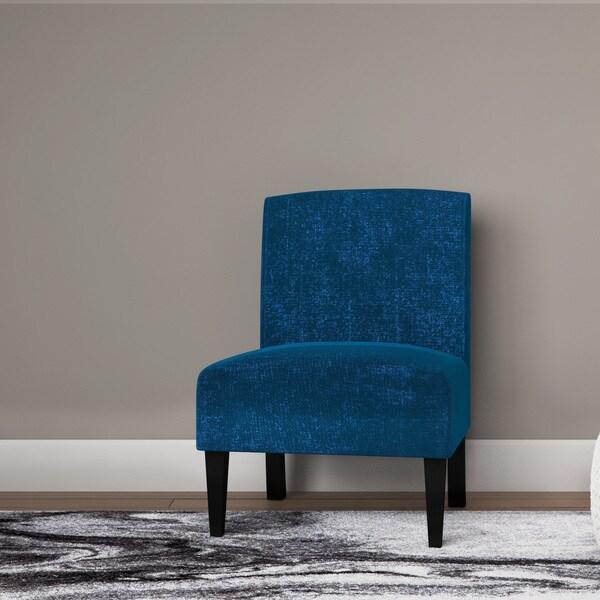 Porch & Den Logan Square Lawndale Blue Armless Accent Chair