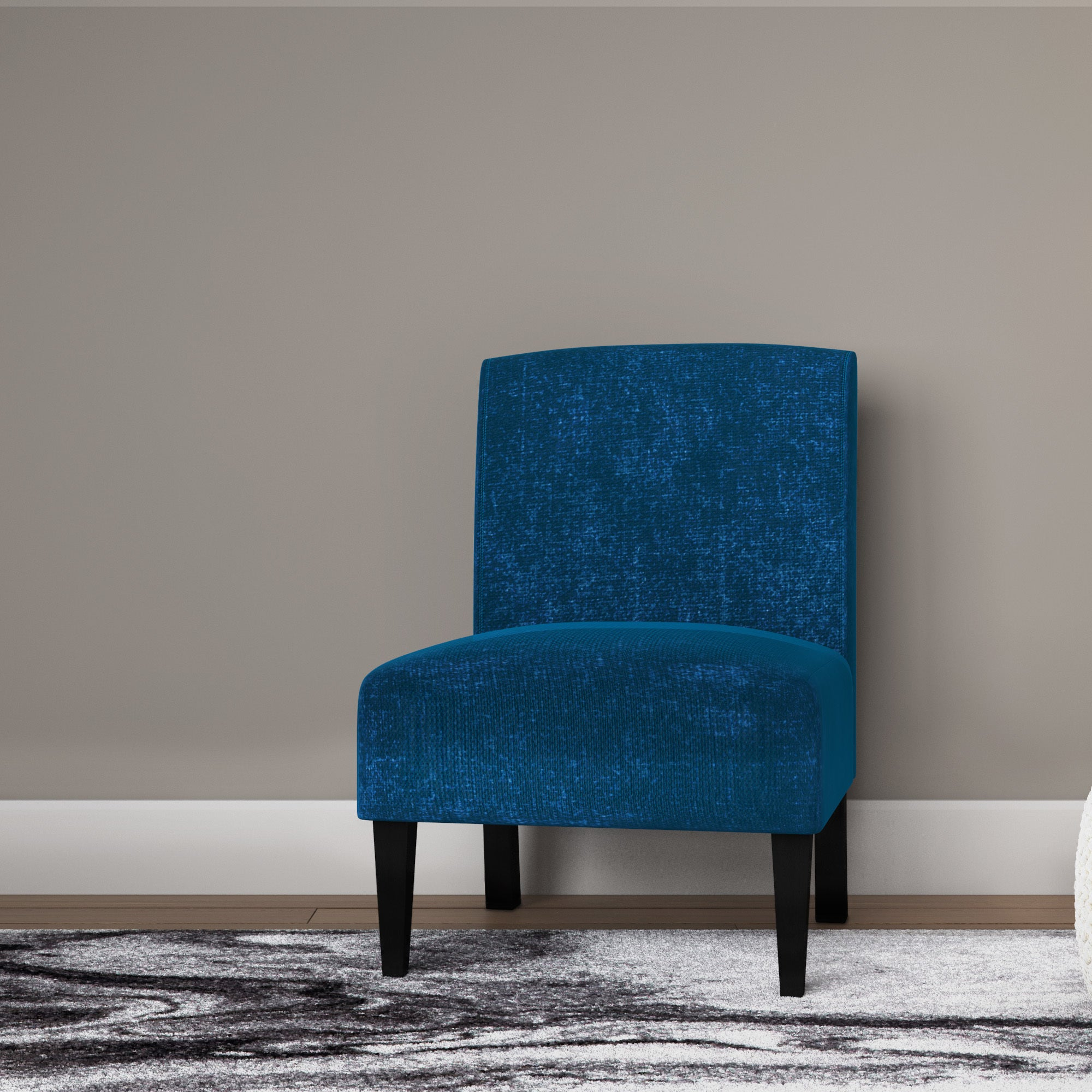 cortesi home chicco blue armless accent chair free shipping on