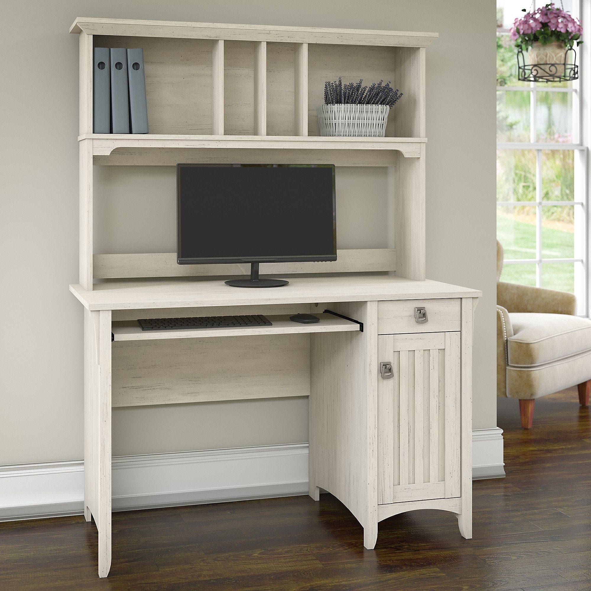 office computer furniture quality home office the gray barn lowbridge mission style desk with hutch buy offwhite desks computer tables online at overstockcom our