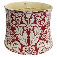 Red Damask Linen Lamp Shade