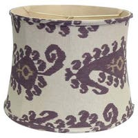 Purple Paisley Linen Lamp Shade