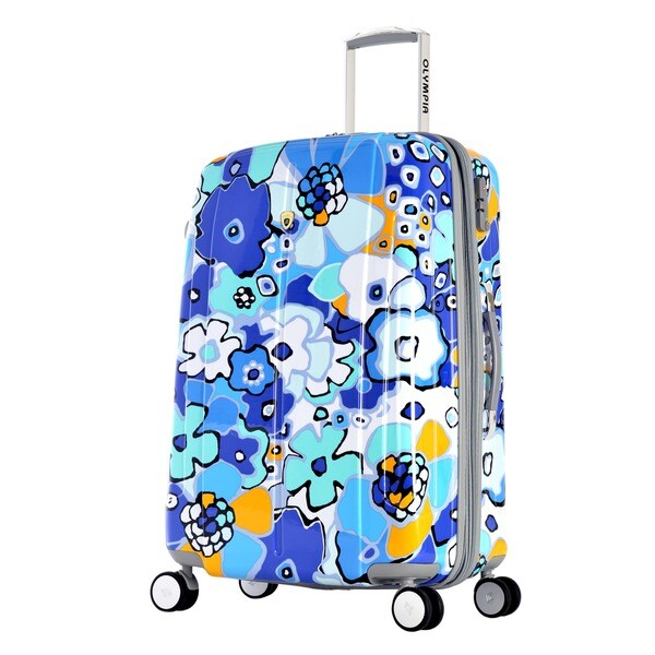 Olympia Blossom II 25-inch Hardside Spinner Upright Suitcase