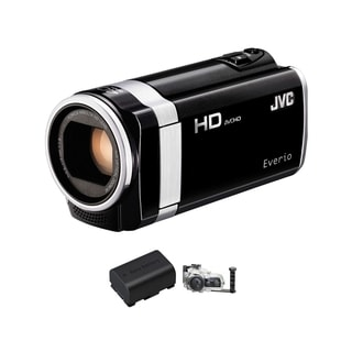 JVC GZ-HM650 HD Everio Black Camcorder Bundle
