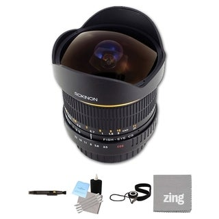 Rokinon 8mm Ultra Wide Angle f/3.5 Fisheye Lens for Canon EF Bundle