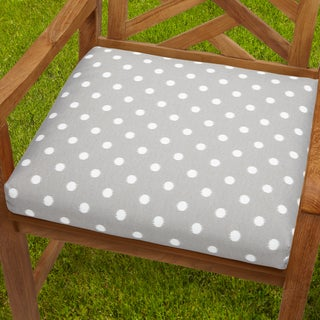 Bristol 20-inch Indoor/ Outdoor Grey Dots Chair Cushion