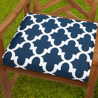 Bristol 20-inch Indoor/ Outdoor Scalloped Navy Chair Cushion